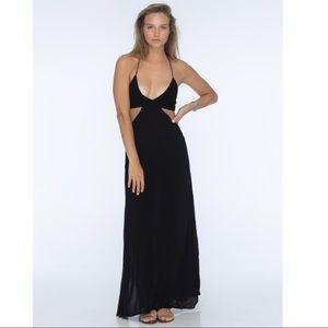 49f63eb4318 Indah Dresses - INDAH Blaze Maxi Dress Black Cutout Back Halter